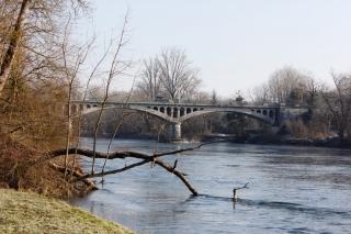 Le Pont de Priay et la Rivière de l'Ain